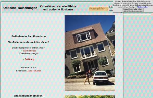 Vorschau von www.panoptikum.net, Optische Täuschungen und Visuelle Effekte