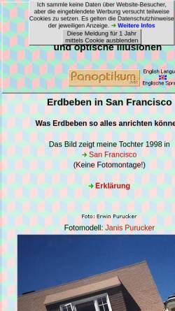 Vorschau der mobilen Webseite www.panoptikum.net, Optische Täuschungen und Visuelle Effekte