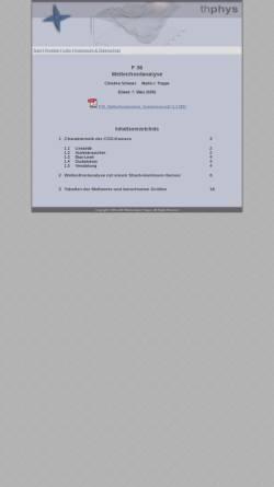Vorschau der mobilen Webseite www.thphys.de, Wellenfrontanalyse