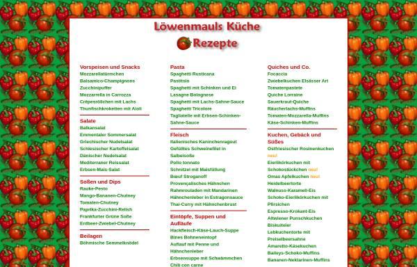 Vorschau von www.loewenmaul.de, Löwenmauls Küche