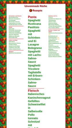 Vorschau der mobilen Webseite www.loewenmaul.de, Löwenmauls Küche