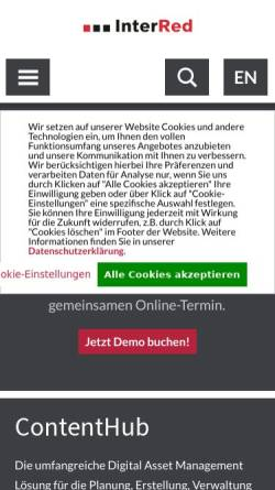 Vorschau der mobilen Webseite www.interred.de, InterRed GmbH