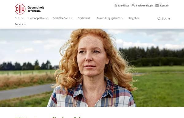 Vorschau von www.schuessler.dhu.de, DHU - Biochemische Mittel
