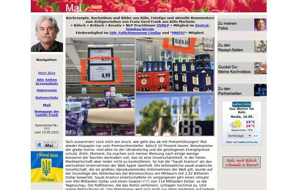 Vorschau von www.franzgerdfrank.de, Franz Gerd Frank