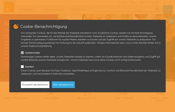 Vorschau von www.kvhessen.de, Kassenärztliche Vereinigung Hessen