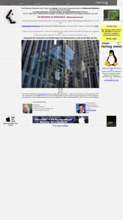Vorschau der mobilen Webseite www.remug.org, Rheintaler Macintosh User Group (REMUG)