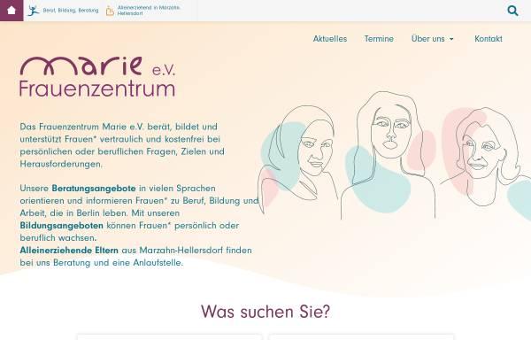 Vorschau von www.frauenzentrum-marie.de, Frauenzentrum Marie e. V.