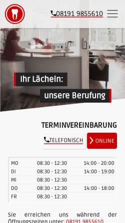Vorschau der mobilen Webseite www.zahndr.de, Dr. Kai-Uwe Schimmang