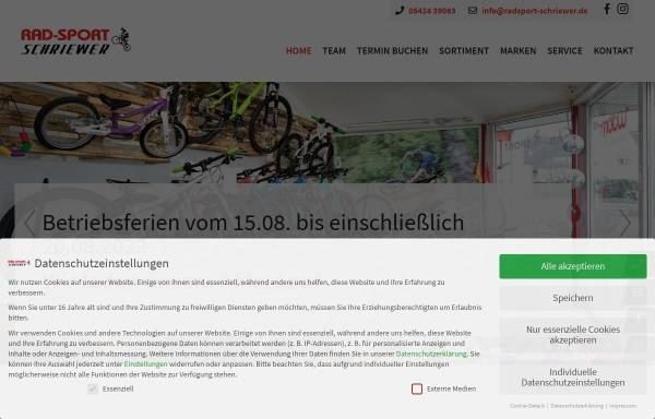 Vorschau von www.radsport-schriewer.de, Radsport Schriewer, Karl-Heinz Schriewer