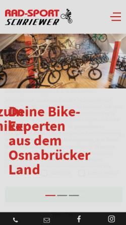 Vorschau der mobilen Webseite www.radsport-schriewer.de, Radsport Schriewer, Karl-Heinz Schriewer