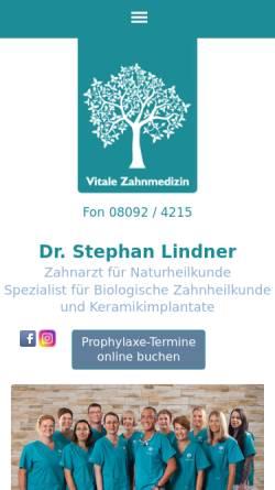 Vorschau der mobilen Webseite www.drlindner.de, Dr. med. dent. Stephan Lindner Zahnarzt