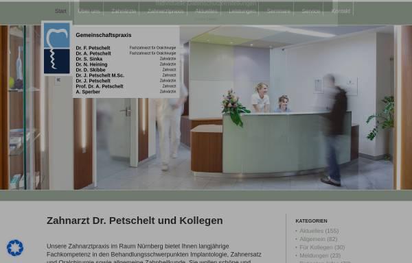 Vorschau von www.petschelt.de, Zahnarzt Gemeinschaftspraxis Dr. Petschelt und Kollegen