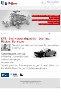 Vorschau der mobilen Webseite ibrb.de, Ingenieur-Büro - Dipl. Ing. Rüdiger Blenskens