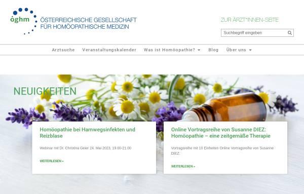 Vorschau von www.homoeopathie.at, Österreichische Gesellschaft für Homöopathie
