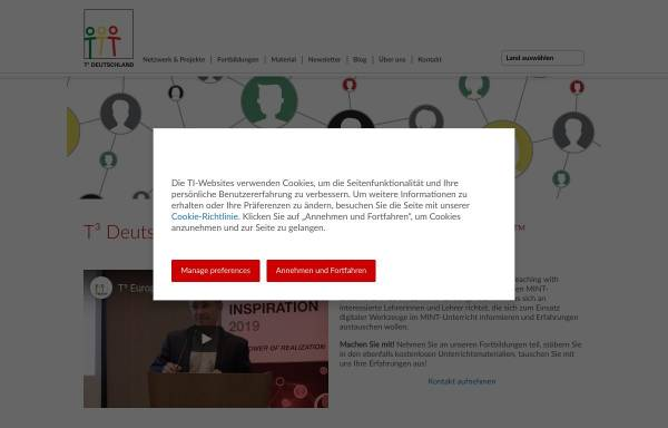 Vorschau von www.t3deutschland.de, Teachers Teaching with Technology (T³)