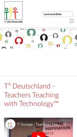 Vorschau der mobilen Webseite www.t3deutschland.de, Teachers Teaching with Technology (T³)