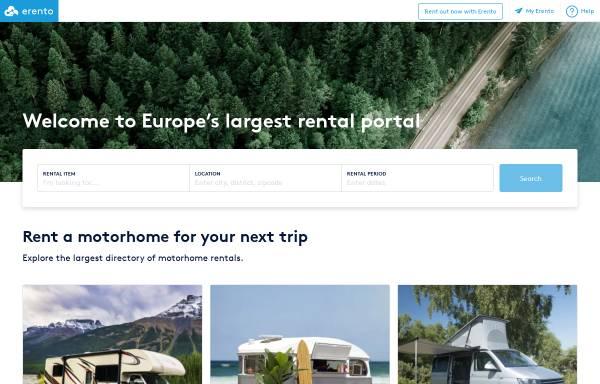 Vorschau von www.erento.com, Erento GmbH