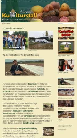 Vorschau der mobilen Webseite www.guendels-kulturstall.de, Gündels Kulturstall, Swen Gündel