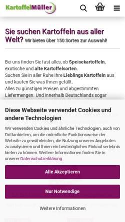Vorschau der mobilen Webseite www.kartoffel-mueller.de, Kartoffel-Müller, Jürgen Müller