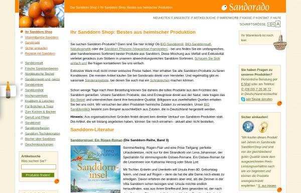 Vorschau von www.sandorado.de, Sandorado, Claus Plachetka