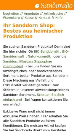 Vorschau der mobilen Webseite www.sandorado.de, Sandorado, Claus Plachetka