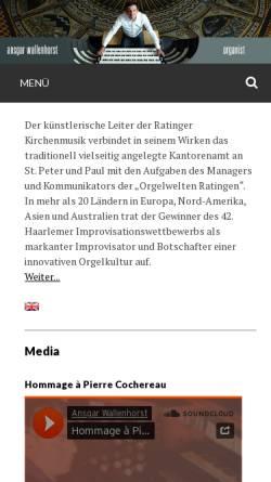 Vorschau der mobilen Webseite www.ansgar-wallenhorst.de, Ansgar Wallenhorst