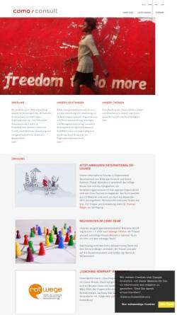 Vorschau der mobilen Webseite www.como-consult.de, COMO Consulting für Projektmanagement und Organisation GmbH