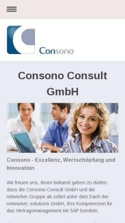 Vorschau der mobilen Webseite www.consono.de, Consono Consult GmbH