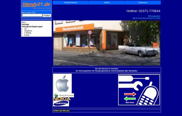 Vorschau von www.handy21.de, Handy21.de, Inh. Stefan Osthaus