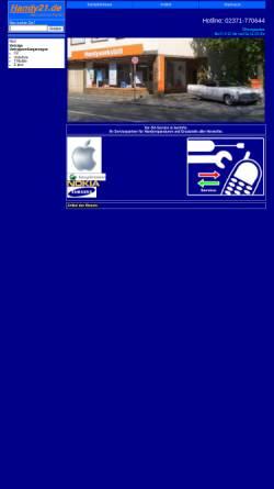 Vorschau der mobilen Webseite www.handy21.de, Handy21.de, Inh. Stefan Osthaus