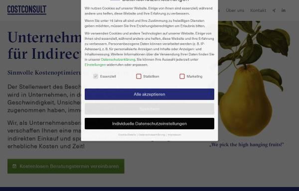 Vorschau von www.costconsult.de, CostConsult! GmbH