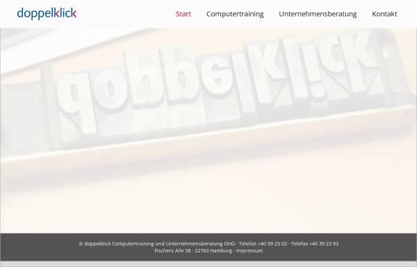 Vorschau von www.doppelklick.com, Doppelklick-Unternehmensberatung - Peter Brandt