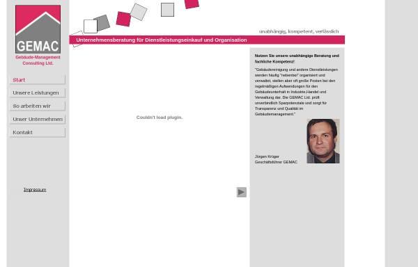 Vorschau von www.gemac-gmbh.de, GEMAC Gebäude-Management Consulting GmbH