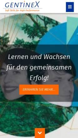 Vorschau der mobilen Webseite www.gentinex.de, GentineX GmbH & Co. KG