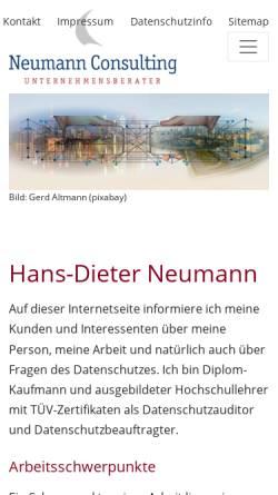 Vorschau der mobilen Webseite www.neucon.de, Hans-Dieter Neumann