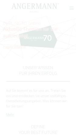 Vorschau der mobilen Webseite www.angermann.de, Horst F.G. Angermann GmbH