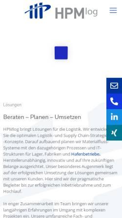 Vorschau der mobilen Webseite www.hpm-log.de, HPMlog Project & Management Consultants GmbH