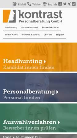 Vorschau der mobilen Webseite www.kontrast-consulting.de, Kontrast Unternehmensberatung