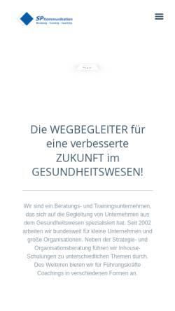 Vorschau der mobilen Webseite www.sp-kommunikation.de, Sp Kommunikation Beratung + Training GbR