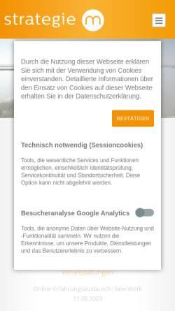 Vorschau der mobilen Webseite www.strategie-m.de, Strategie M Unternehmensberatung GmbH