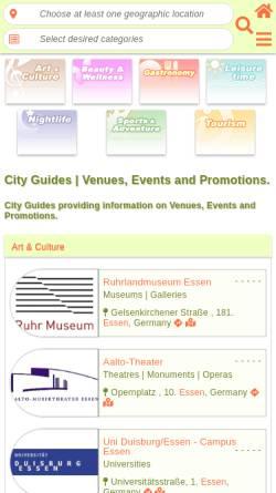 Vorschau der mobilen Webseite www.lovento.com, Location- und Eventguide
