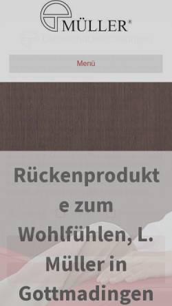 Vorschau der mobilen Webseite www.m-extender.de, L. Müller Medizinisch-Technischer Gerätebau GmbH
