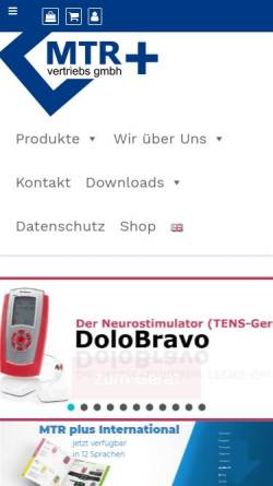 Vorschau der mobilen Webseite tens-online.de, MTR+ Vertriebs GmbH