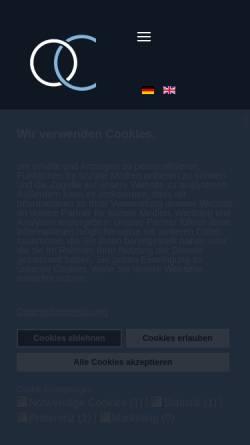 Vorschau der mobilen Webseite www.oxygenconcept.de, Oxygenconcept Klauenberg GmbH