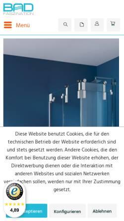 Vorschau der mobilen Webseite www.badfaszination.com, Badfaszination, Verena Dielacher