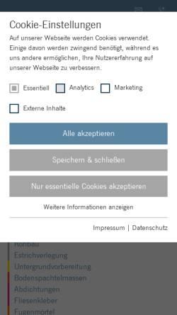 Vorschau der mobilen Webseite www.ardex.de, ARDEX GmbH