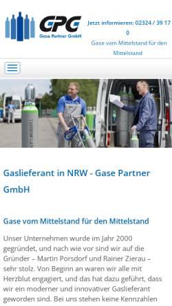 Vorschau der mobilen Webseite www.gase-partner.de, GPG Gase-Partner GmbH