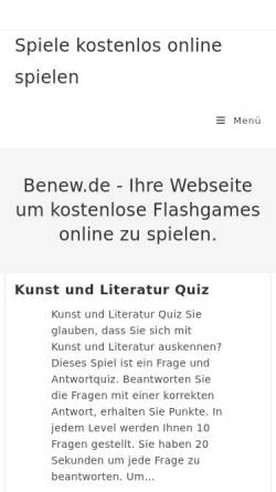 Vorschau der mobilen Webseite www.benew.de, Benew.de