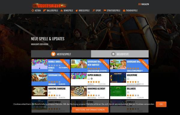 Vorschau von www.coolespiele.com, Coole Spiele