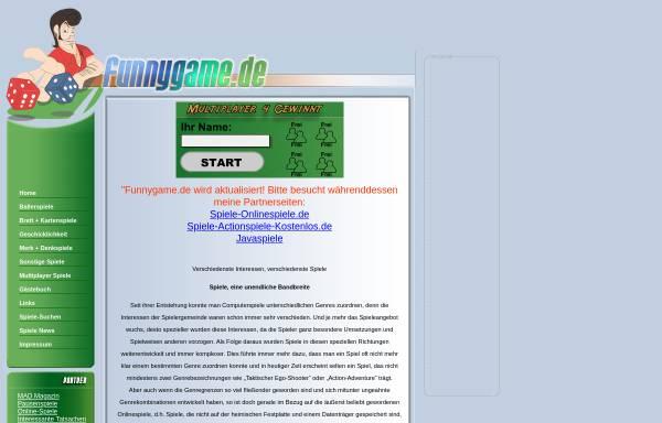 Vorschau von www.funnygame.de, Funnygame.de